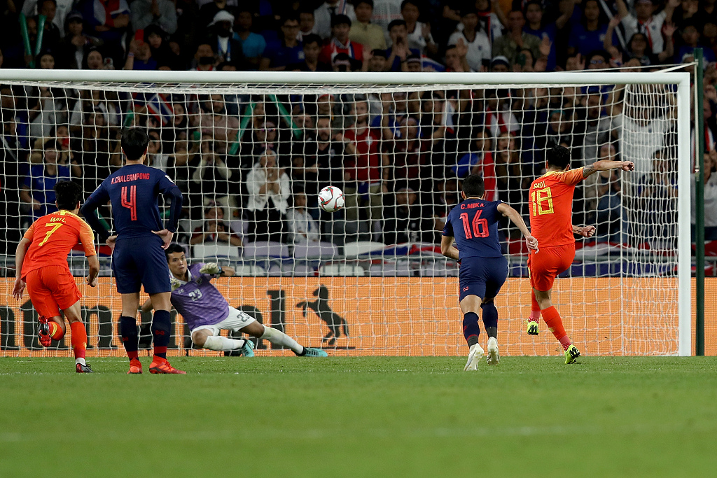 China beats Thailand  2-1 to reach Asian Cup quarter final