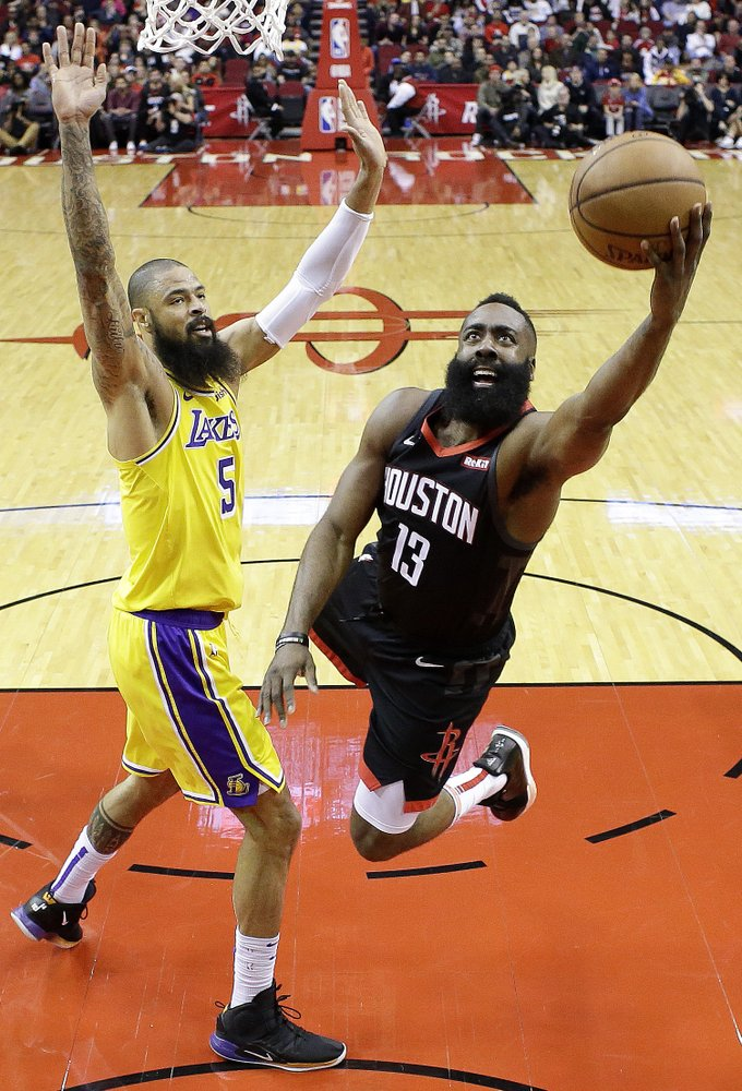 Harden scores 48 points, Rockets beat Lakers 138-134 in OT