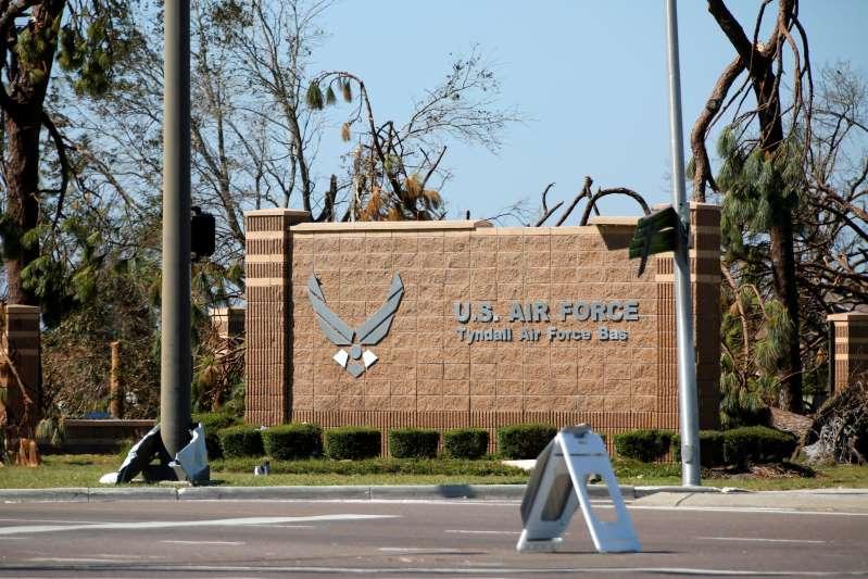 Tornado damages Florida air base hit by hurricane