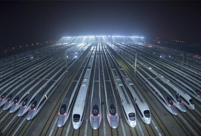 Some 100 high speed trains maintained in Wuhan for Spring Festival travel rush