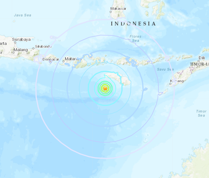 Strong 6.4-magnitude quake hits off Indonesia
