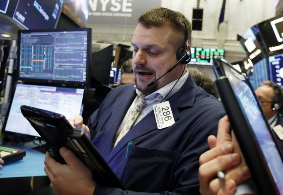 US stocks slide as health care and energy companies slip