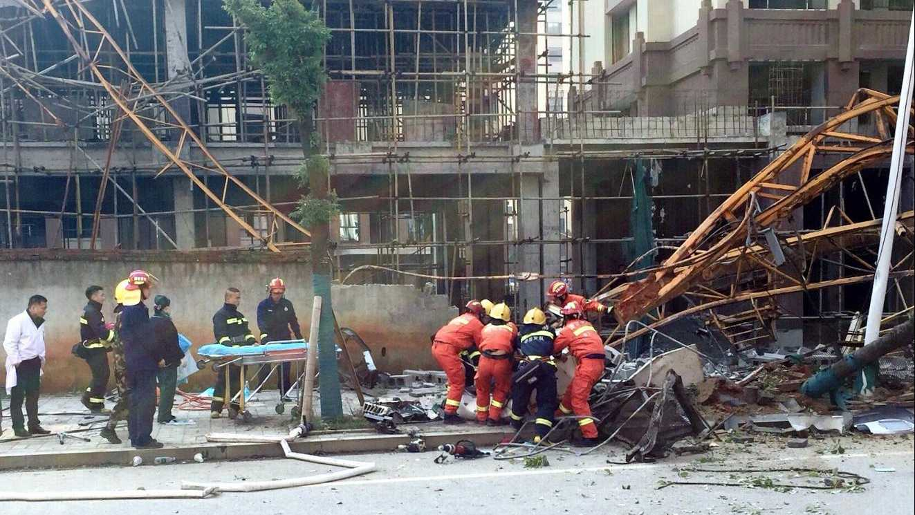 4 dead, one injured after tower crane collapse in south China