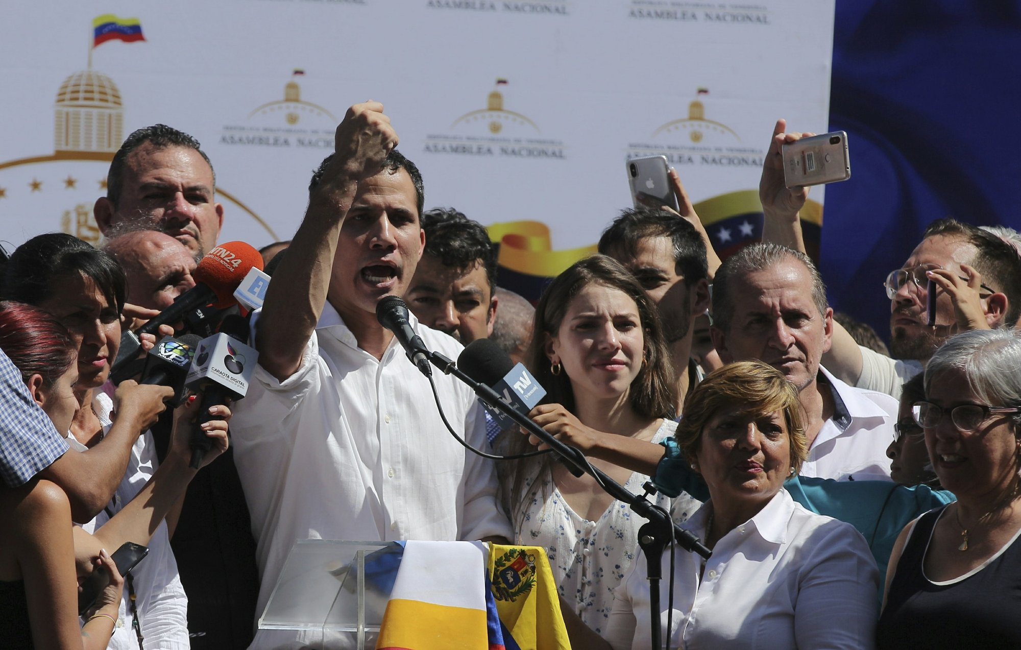 US recognizes Venezuelan opposition leader as nation's 'interim president'
