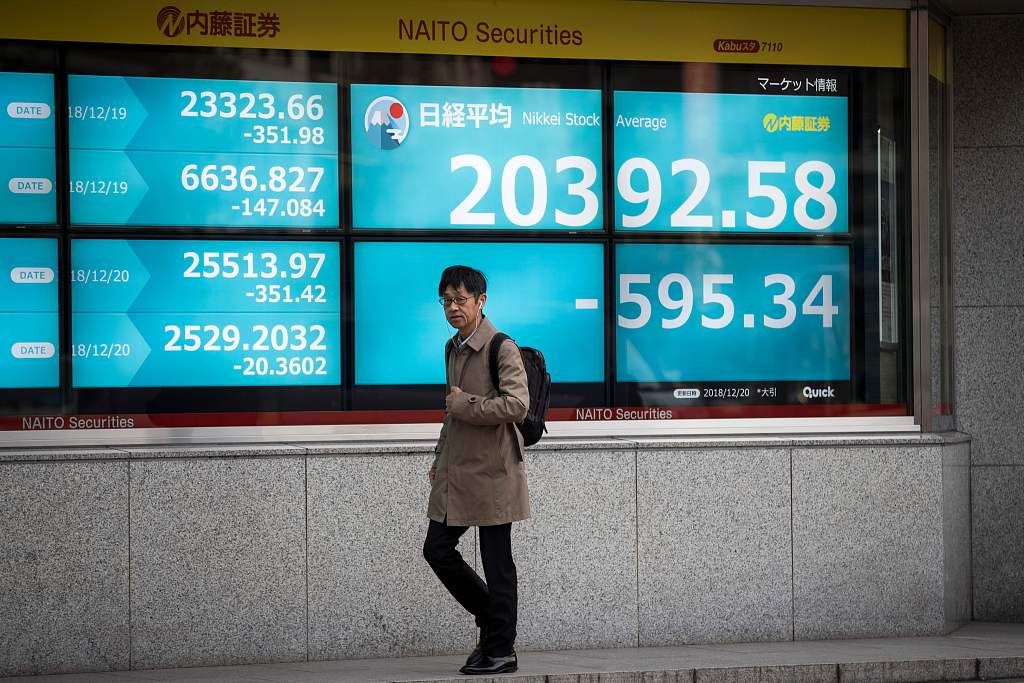 Asian markets mixed as investors track trade talks, shutdown