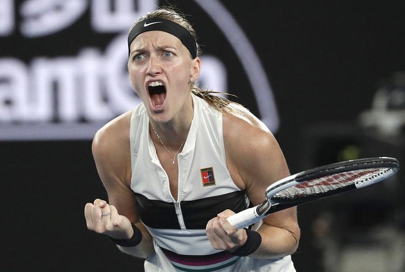 Kvitova back at 1st Grand Slam final since 2014