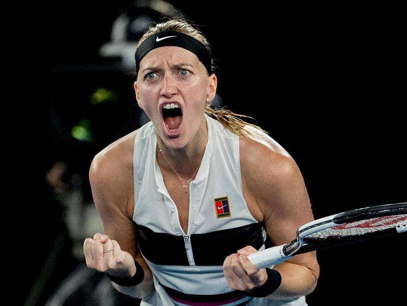 Australian Open: Kvitova beats Collins 2-0, enters final match