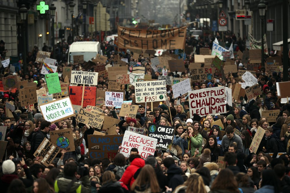 32,000 Belgian students march to demand climate protections