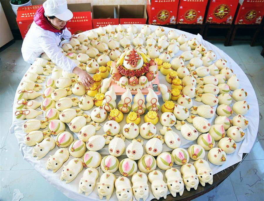 Villagers make Buns to celebrate lunar New Year in E China's Shandong