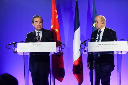 "Chinese FM says development of China-France ties ""brilliant"""