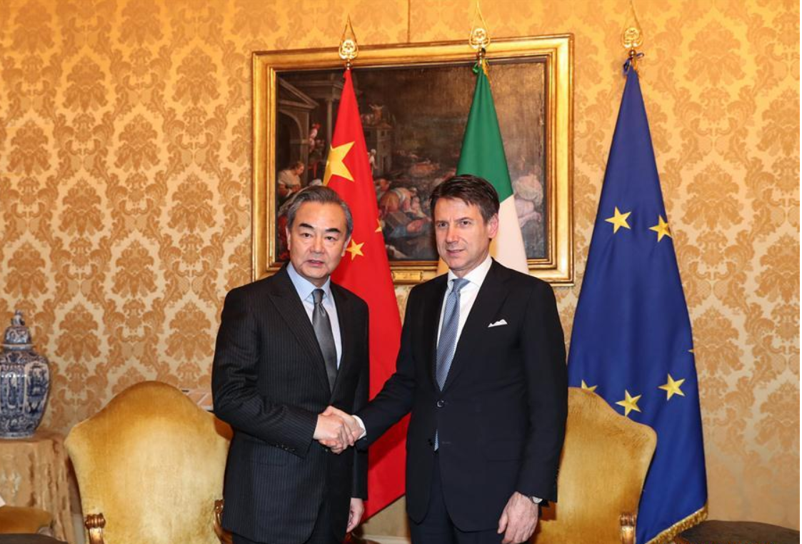 Chinese FM calls for further cooperation with Italy