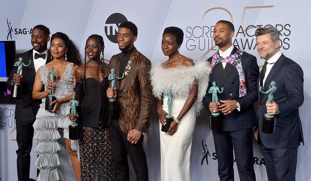 'Black Panther' wins top honor at SAG Awards, 'Maisel' soars