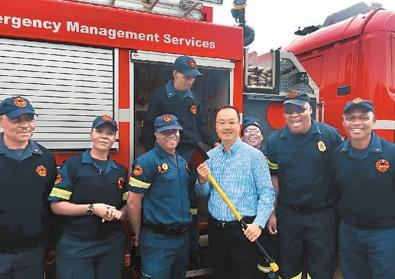 The only Chinese police chief in South Africa contributes to local community