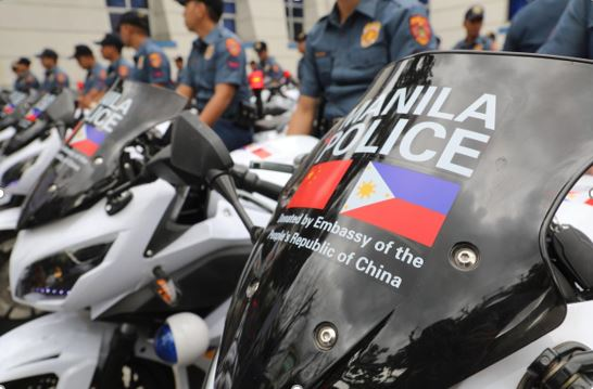 50 e-Motorcycles donated to Manila by Chinese embassy
