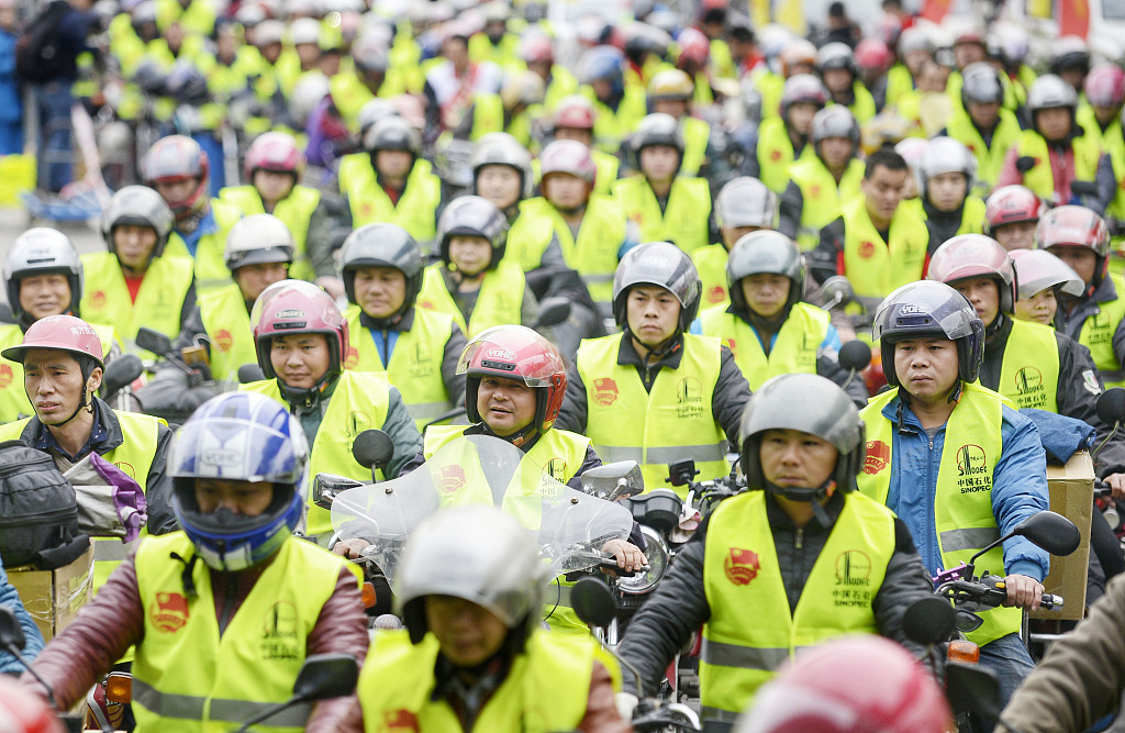 Special navigation map for 'motorcycle army' of migrant workers launched in S. China