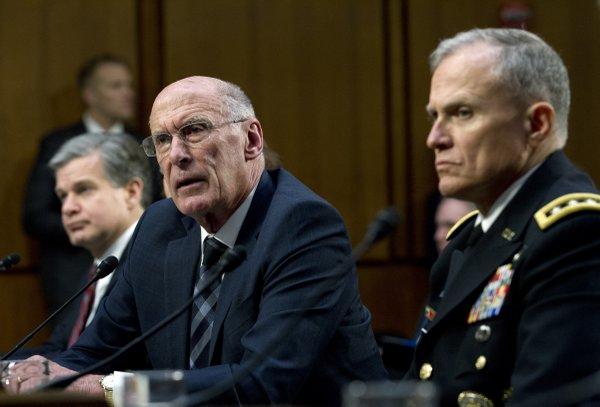 Trump disputes intel chiefs on North Korea, Iran