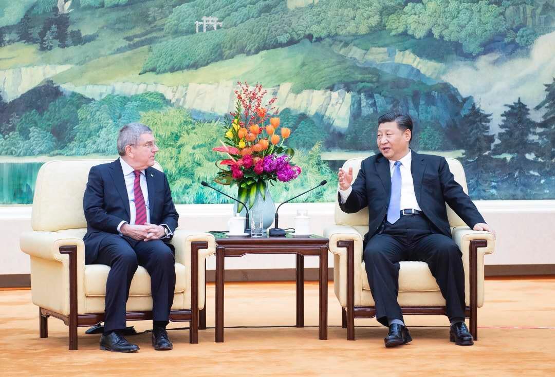 Chinese President Xi Jinping meets IOC President Bach