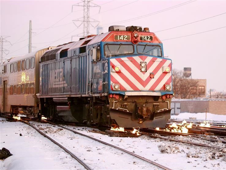 Chicago train tracks set on fire to ensure safety running