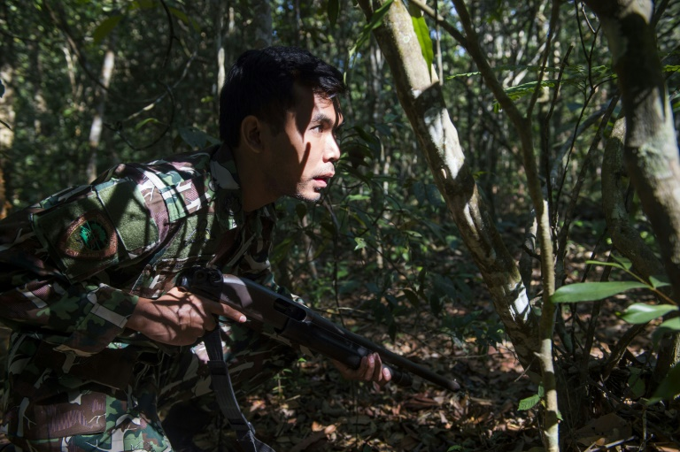 Thai forest rangers train to tackle wildlife crime