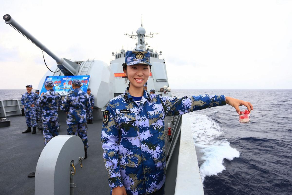 Celebrating Spring Festival far out at sea