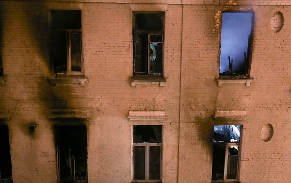 Death toll of fire in central Moscow rises to 6