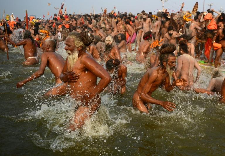 Millions take the plunge at India's religious mega festival