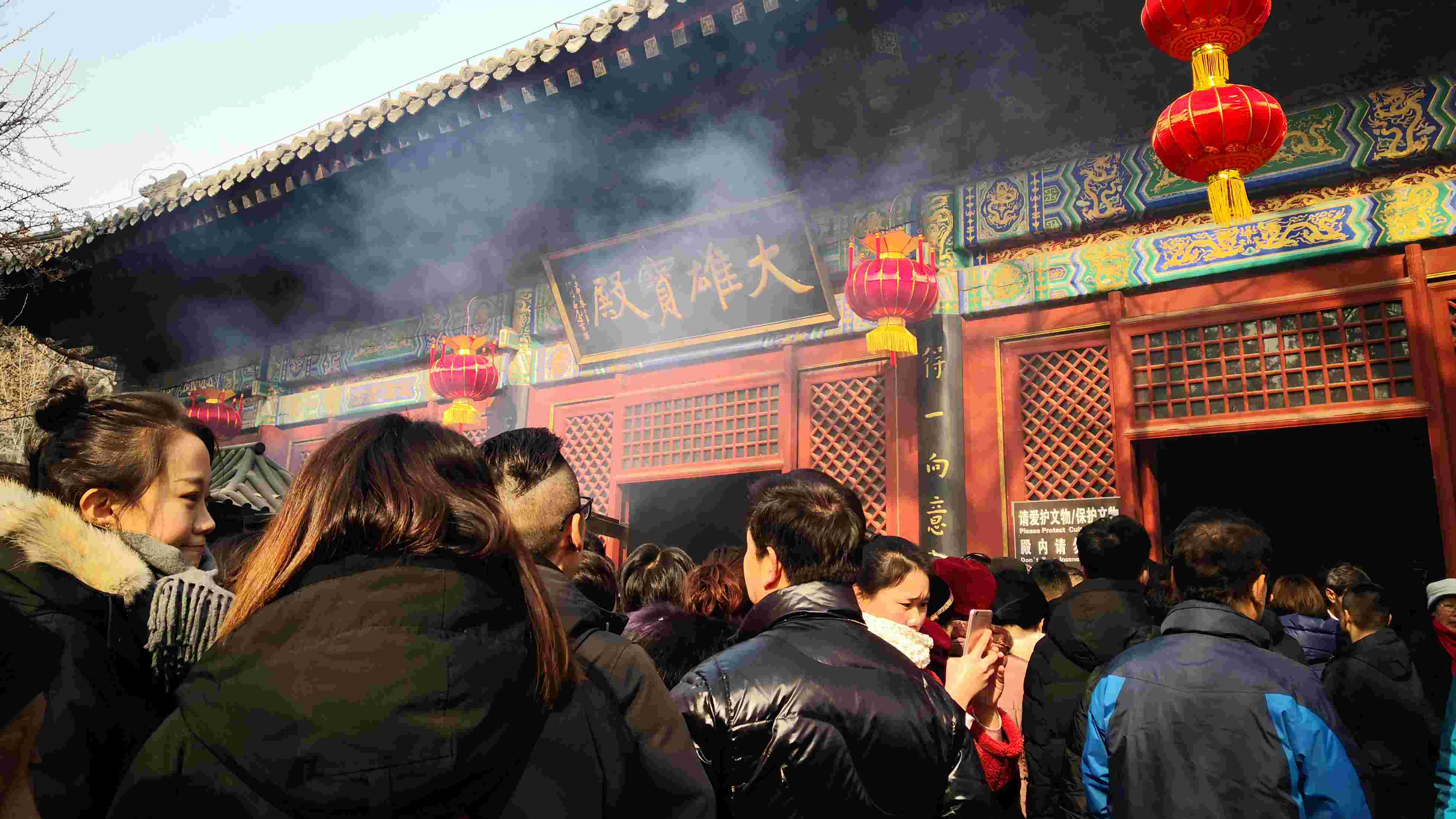 Praying at temples for good fortune on Chinese New Year's Day