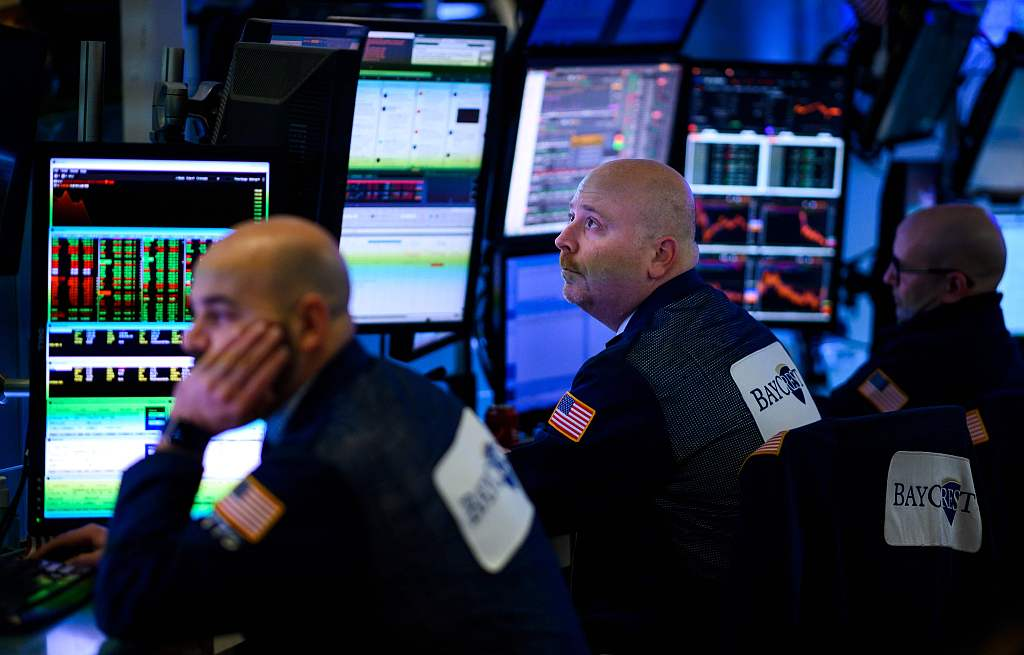 US stocks open mixed after Trump's address