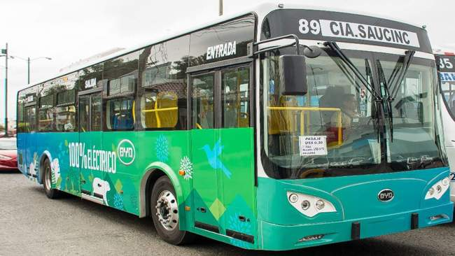 Chinese-made electric buses arrive in Ecuador