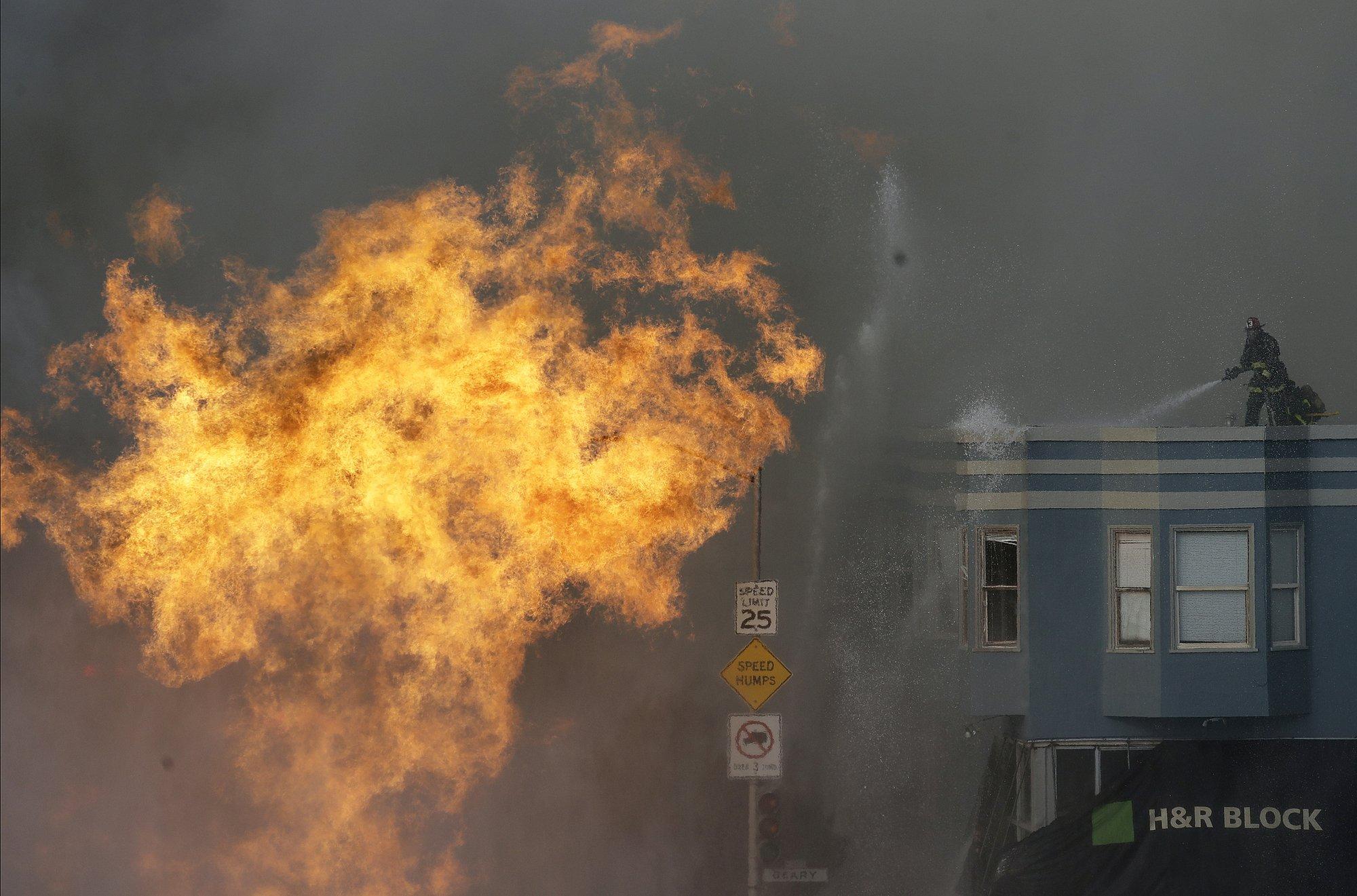 Gas line explosion in San Francisco ignites buildings