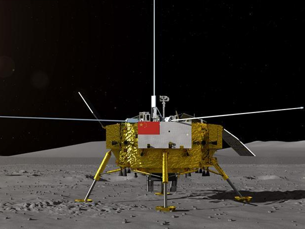 NASA probe captures China's lunar landing site in two pixels