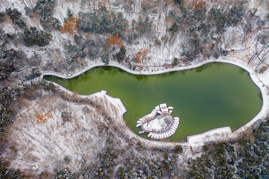 Snow scenery of tourism resorts across China