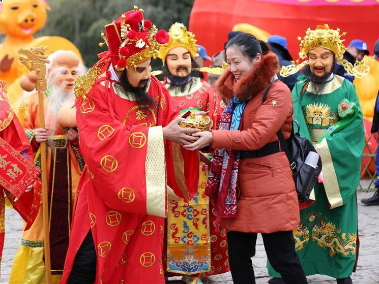 Birthday of God of Wealth marked across China