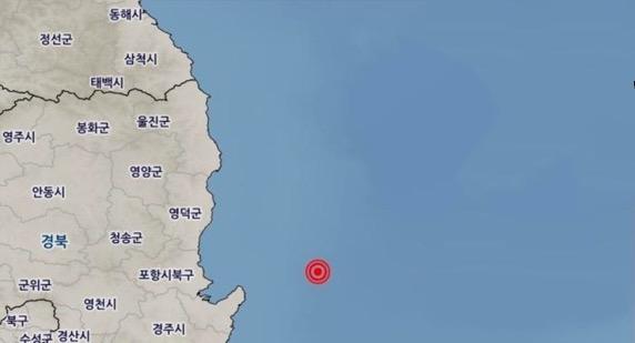 4.1-magnitude earthquake hits waters off southeast coast of S. Korea