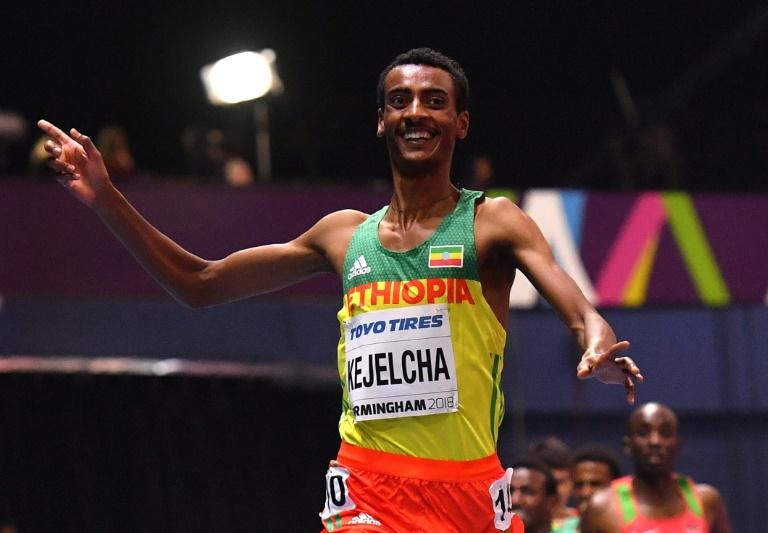 Ethiopia's Kejelcha just misses world indoor mile record