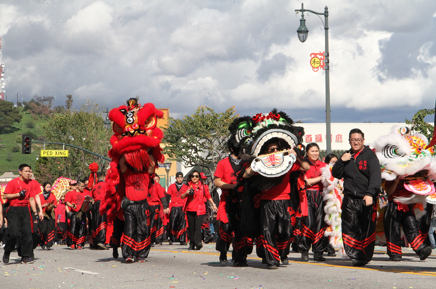 120th Golden Dragon Parade held in LA Chinatown
