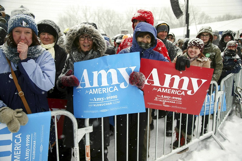 US Dems' 2020 field now includes Minnesota Sen. Amy Klobuchar