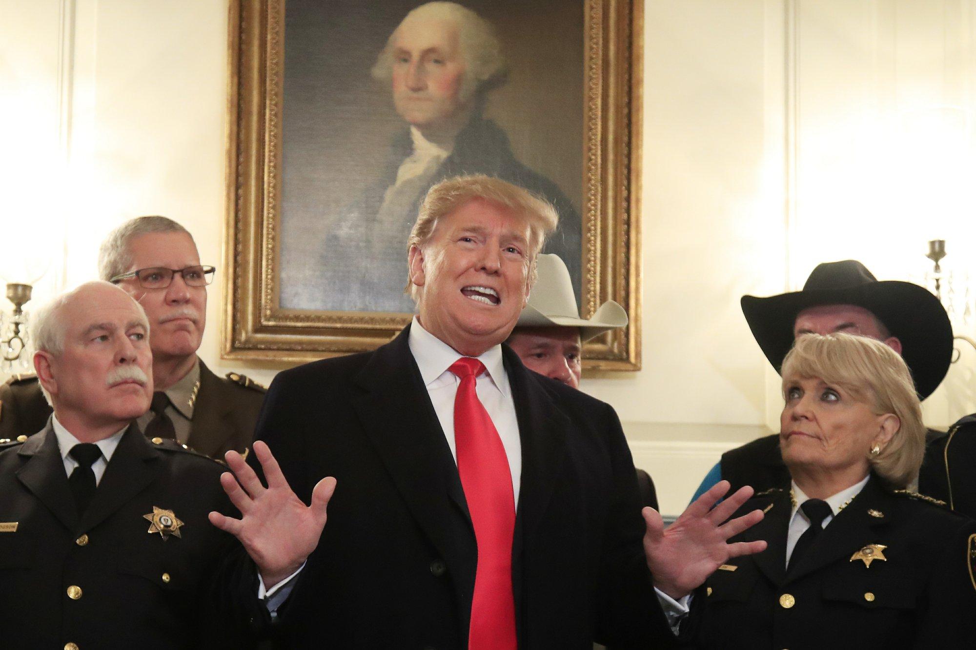 Trump raps Dems' demands in border negotiations