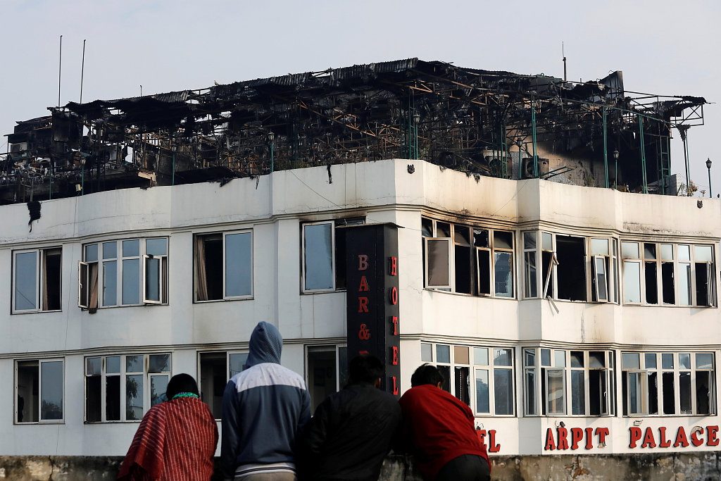 Death toll rises to 17 in India hotel fire: official