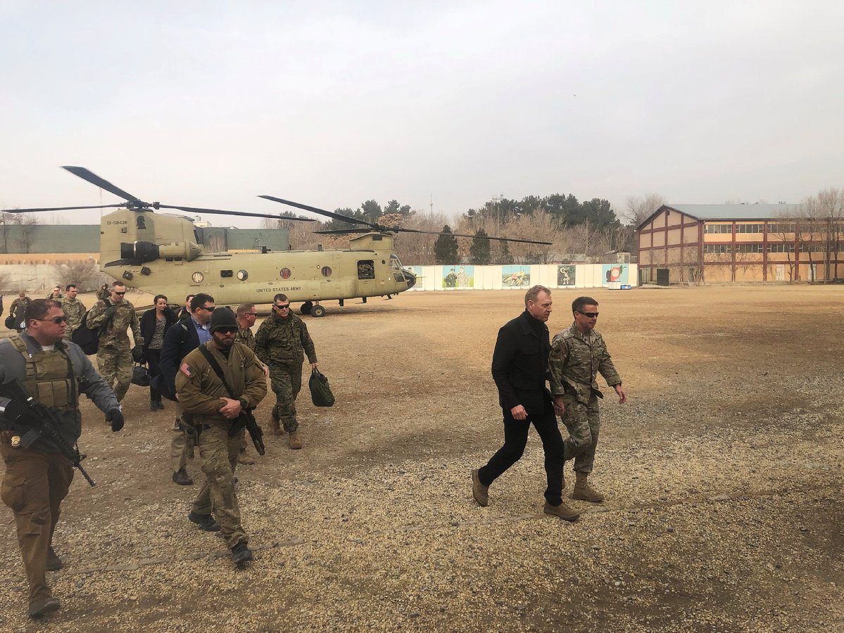 Acting Pentagon chief meets with Afghan president on issues in Kabul