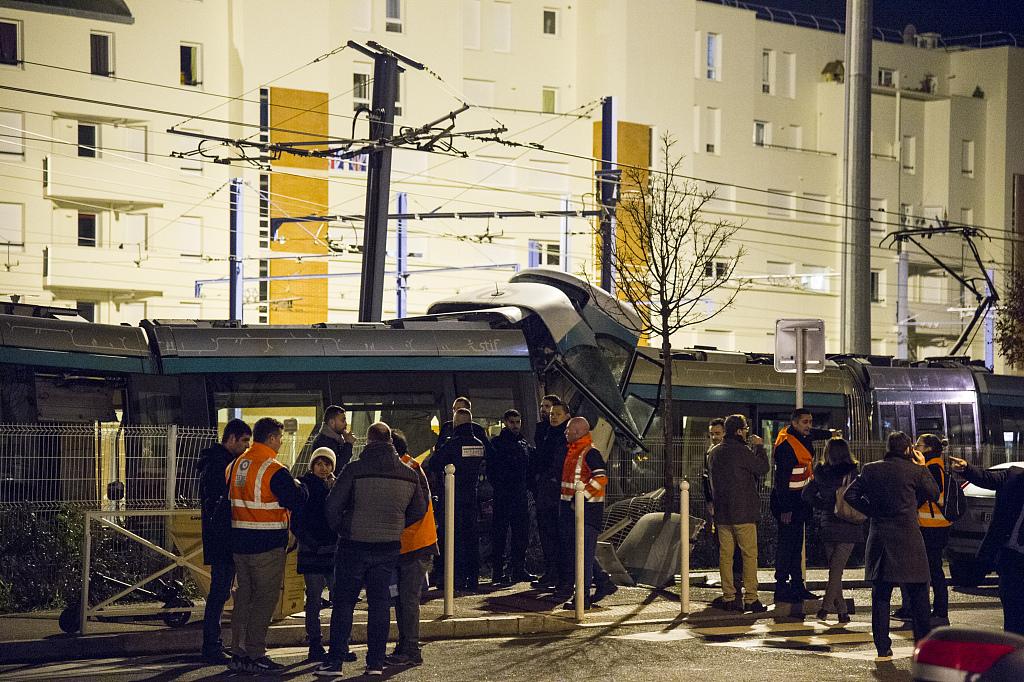 Rare tram collision in Paris suburb injures 12