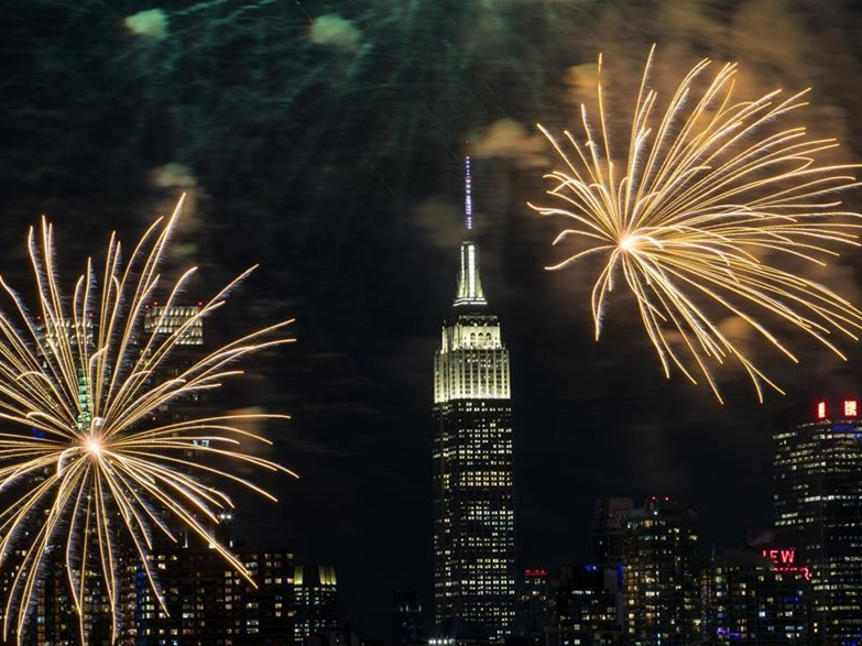 Fireworks displayed to celebrate Chinese lunar New Year in New York