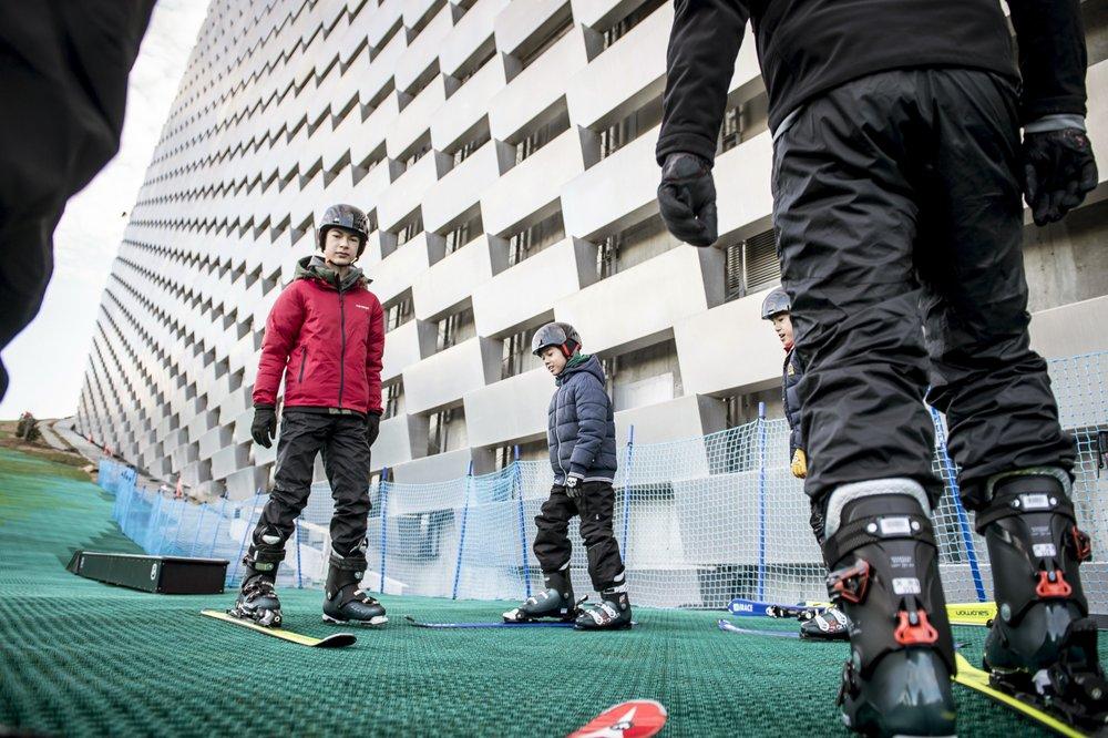 Danes test out ski slope on top of incineration plant