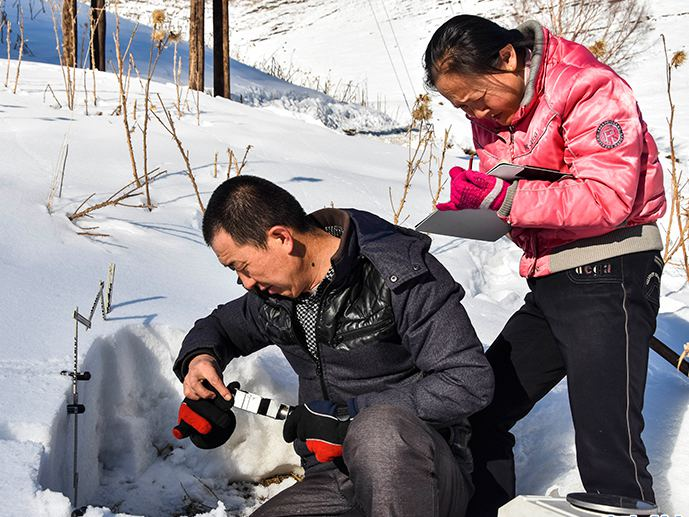 Snow observers guard 'death valley' in Xinjiang