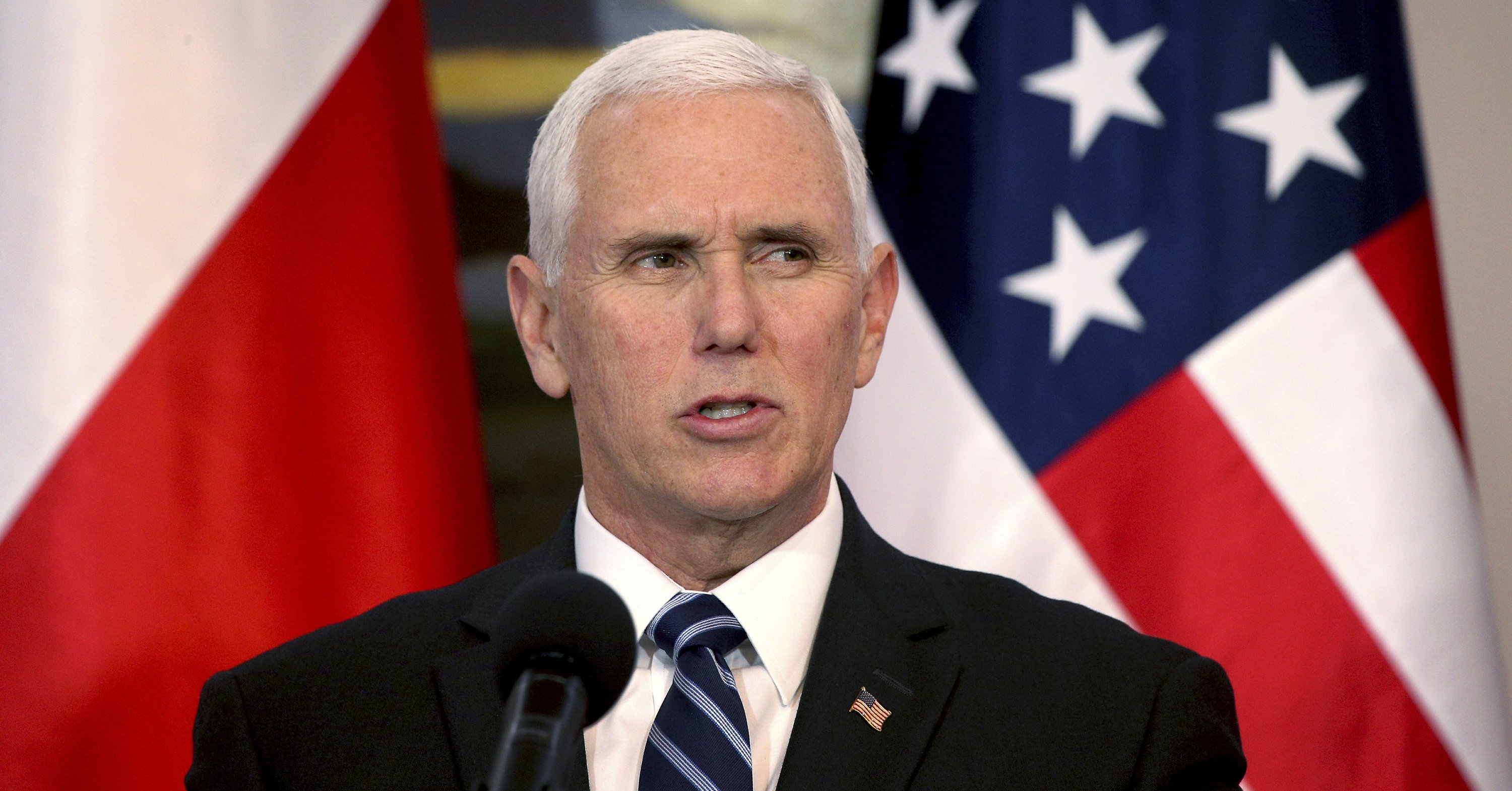 Pence accuses Russia of trying to divide NATO