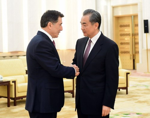 Chinese state councilor meets new SCO Secretary General