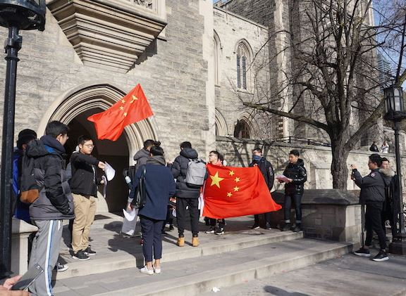 China slams Canadian media 'hype' on student patriotic actions