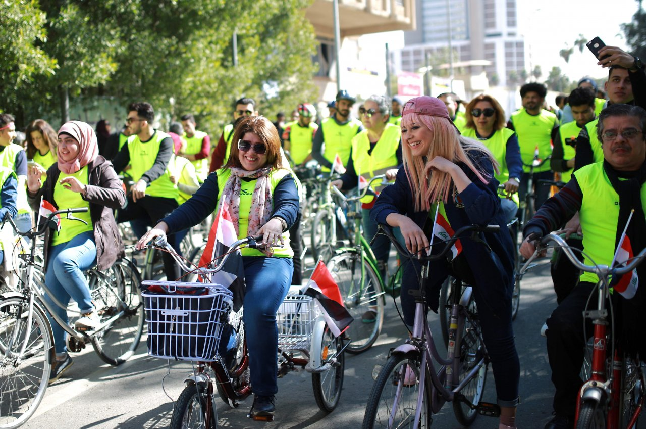 Cycling event in Baghdad reflects security improvement