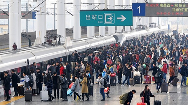 Daily railway trips surpass 10m for 8 consecutive days in China