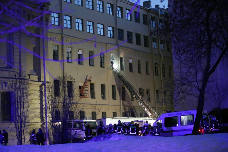No people trapped in collapsed building in St. Petersburg